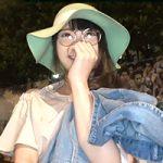 【素人】乳首が真っピンク!青学の前でナンパした眼鏡っ娘大学生
