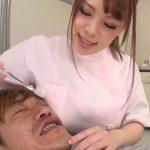 おっぱいがグイグイ当たってるー!歯科衛生士さんの爆乳に押しつぶされるラッキースケベ動画w