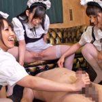 M男に小便を飲ませながら手コキで暴発させる体液カフェの痴女メイド!朝倉ことみ