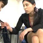 M男社員を見下し尻コキで責めるミニスカ痴女OL 小早川怜子 瀧川花音