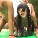 海辺で遊ぶトリプルパイパン日焼け3人娘をナンパしてそのまま中出し調教
